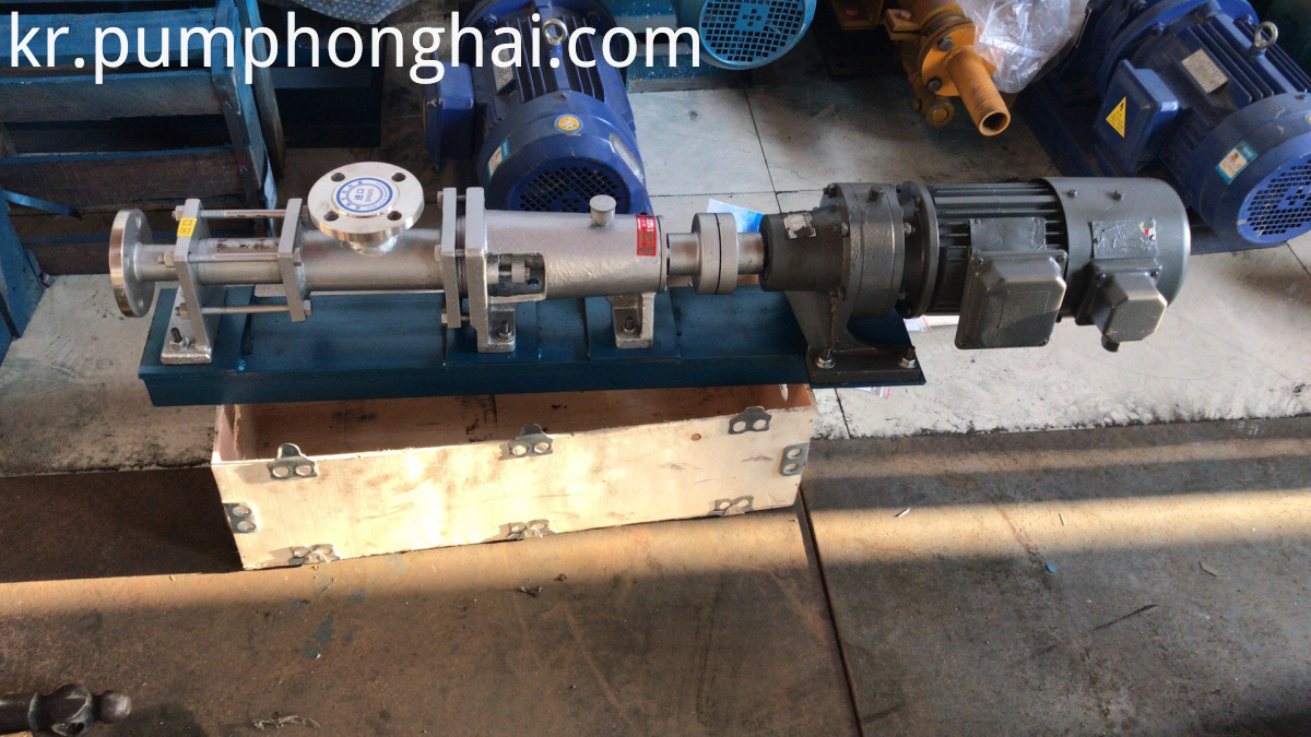 Stainless steel food grade single rotor screw pumps