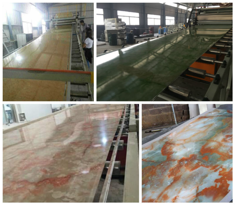 PVC Marble Plate/Sheet Extrusion Making Machine (SJ80156)