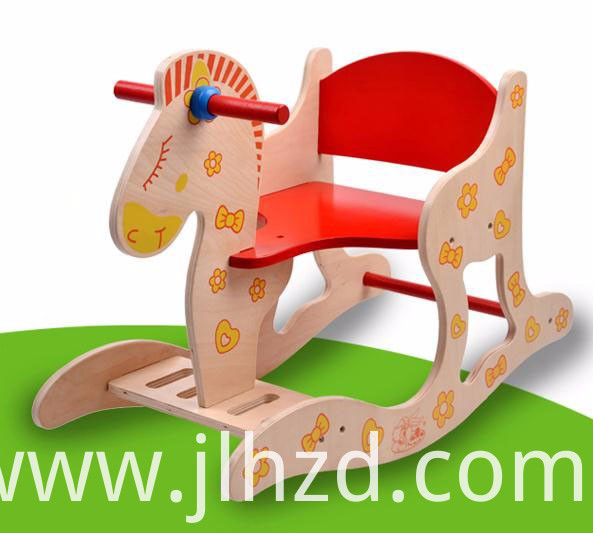 Cartoon Rocking Chair Wood Toy