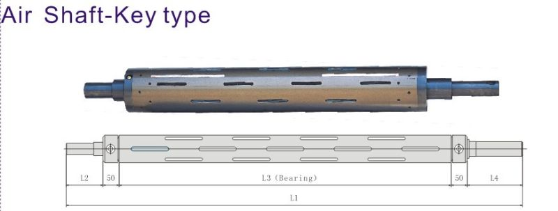 for Rolling Unreeling 6-Inch Key Type Air Shaft