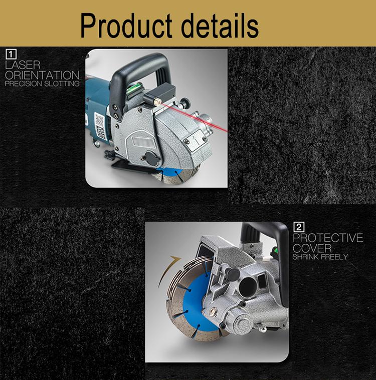 Cut Depth 39mm Professional Industrial Electric Brick Wall Chaser Cutting Machine