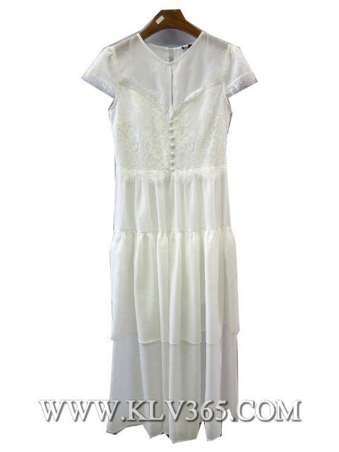 Fashion Summer White Long Wedding Prom Cocktail Party Dress for Women
