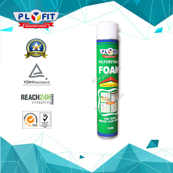 750ml Waterproof Expanding PU Spray Foam