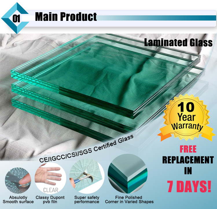 Clear Laminated Glass Panel