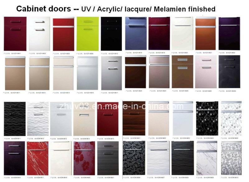 UV Coated Red Kitchen Base Cabinet