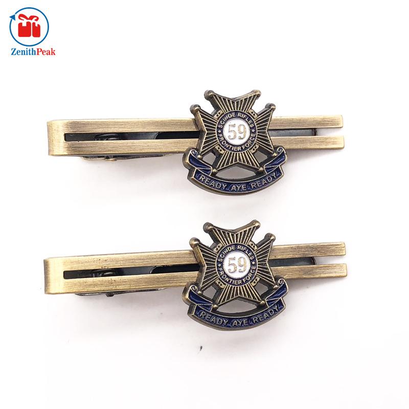 Antique Brass Filling Soft Enamel Tie Clip Tie Bar