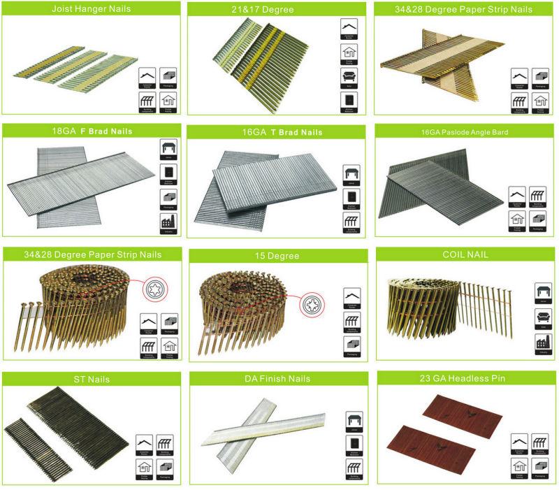 Zinc Galvanized Paper Strip Nails