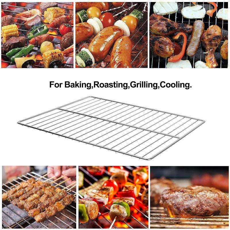 Grillage de grille de grille de grille de grillage de barbecue de barbecue d'acier inoxydable 304