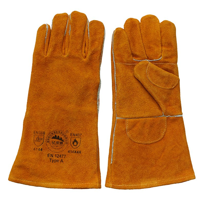 Double Palm Leather Hand Protection Cut Resistant Gloves for Welding