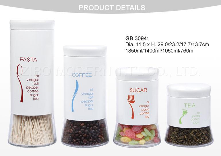 Tea Coffee Sugar Glass Storage Jars Wholesale