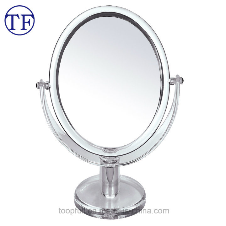 Swival Table Top Dual Sided Oval Magnifying Makeup Mirror