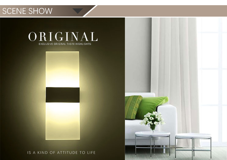 High Quality Modern Indoor Square LED Wall Lamp