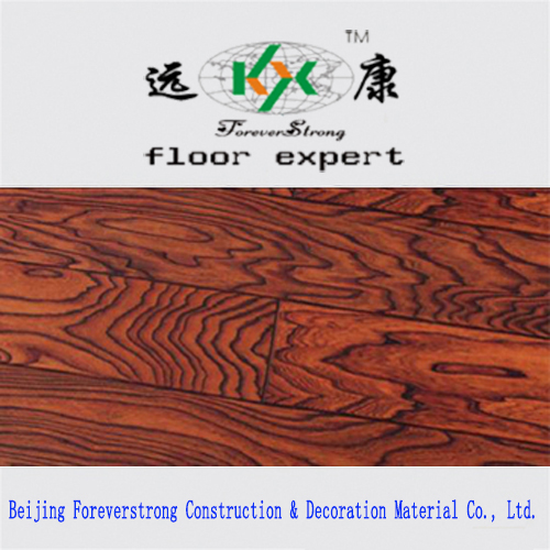 Antique Style Black Color Embossed Multi-Layer Engineered Wood Flooring