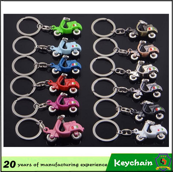 Electric Motor Car Key Chain with Many Colors