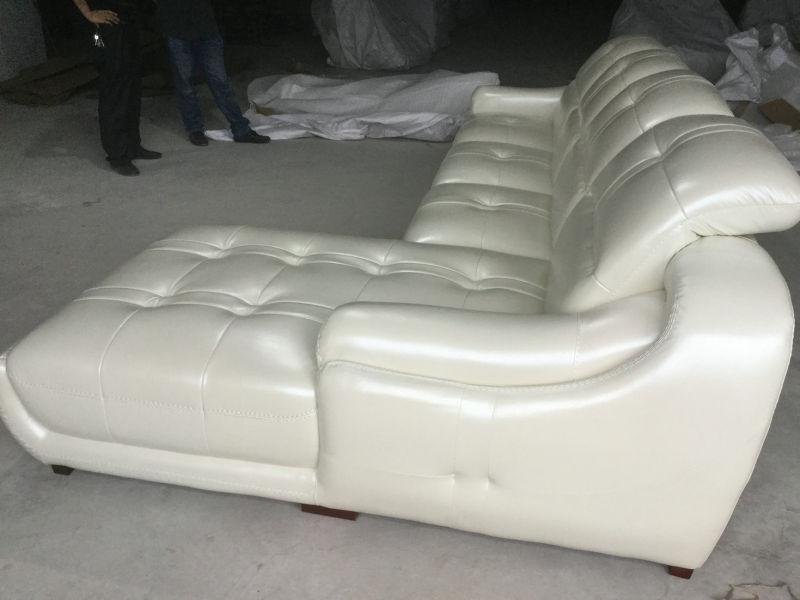 New Arrival L Shape Leather Sofa, Modern Living Room Sofa (A849)
