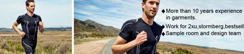 Soft Feeling Men Training Gym Wear Fitted Compression Wear