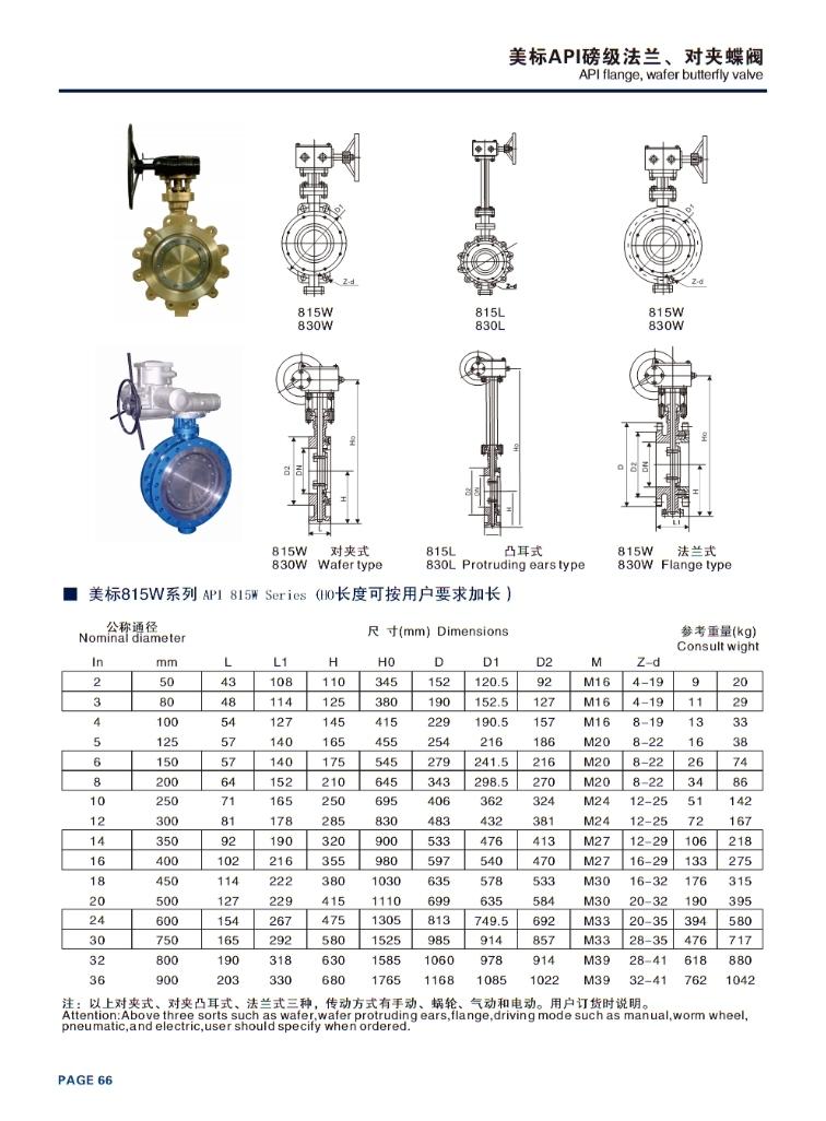 China API Series Lug Type High Performance Butterfly Valve