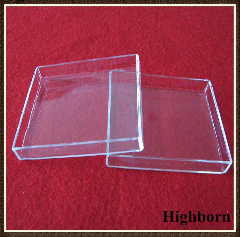 Transparent Square Quartz Glass Petri Dish for Melting