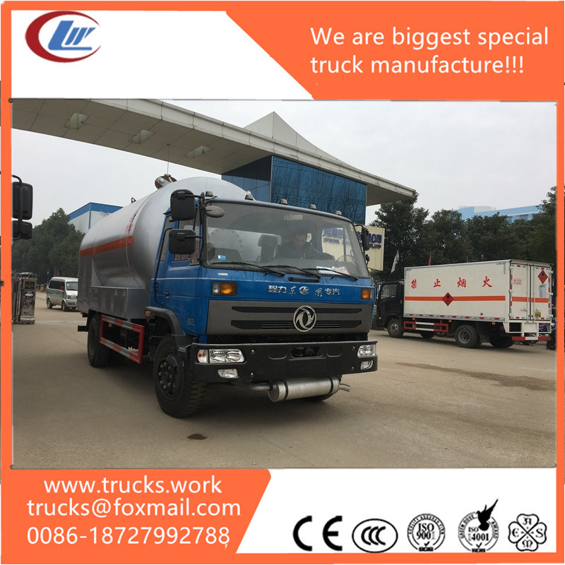 20m3 Dongfeng 8X4 Refilling Dispenser LPG Tank Truck for Sale