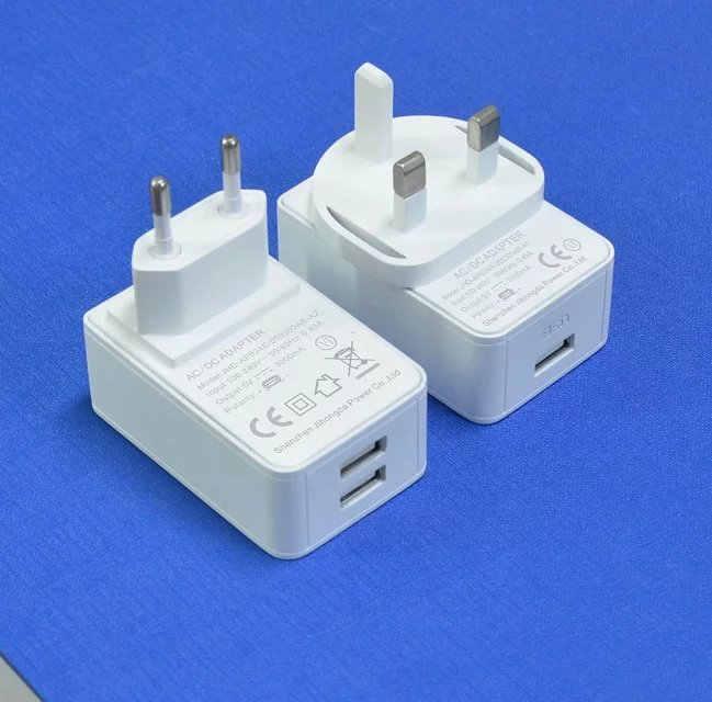 2 USB Port Travel Adapter Charger 5V2a-2.5A-3A