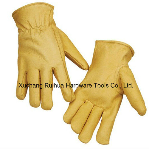 10''cowhide Split Leather Truck Driver Gloves, Sheep Leather Driving Glove, Goat Skin Glove/Sheep Leather Glove, Goat Leather Unlined TIG Welding Gloves