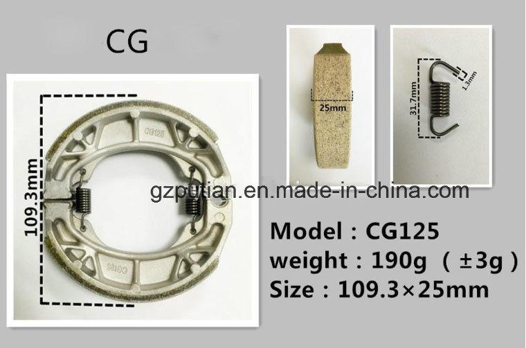 Motorcycle Parts Motorcycle Brake Shoe for Cg125