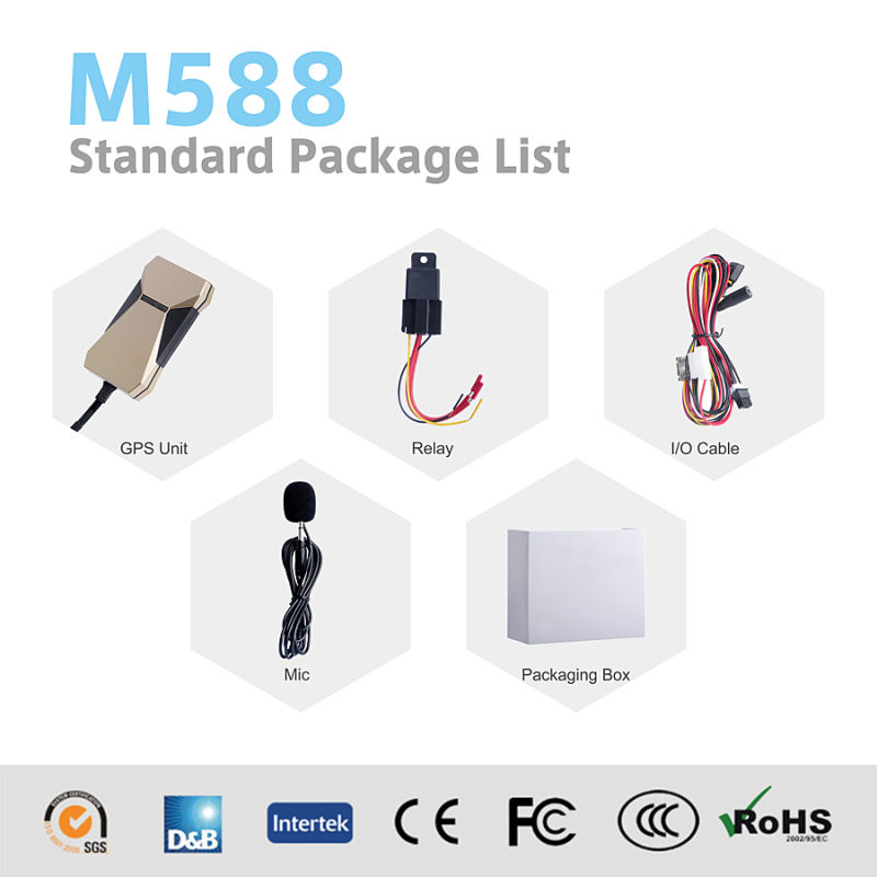 Small Size GPS Locator for Car Tracking M588