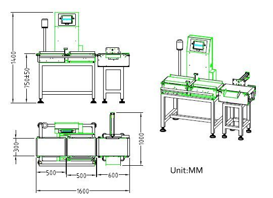 Quality Assurance Equipment Conveyor Belt Checkweigher