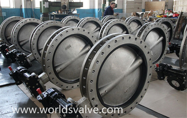 CF3m Double Flanged Butterfly Valve (D41X-10/16)