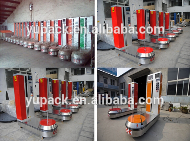 Airport Automatic Luggage /Baggage Wrapping Machine/Pallet Stretch Wrapper