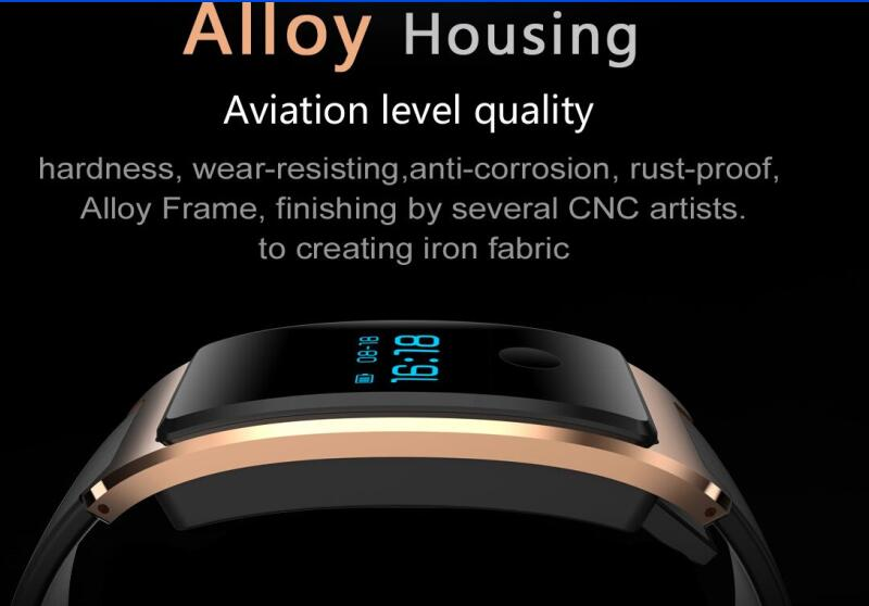 Waterproof Built-in USB Wechat Interconnection Heatrate Monitor The Bluetooth Sleep Monitoring Super-Long Standby Smart Watch Android