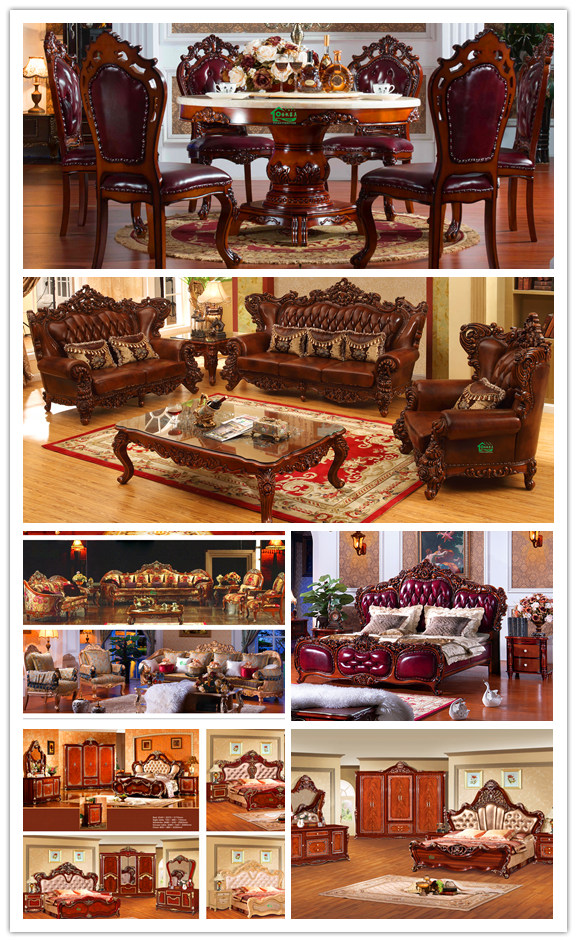 Wooden Leather Sofa for Home Furniture (D511)