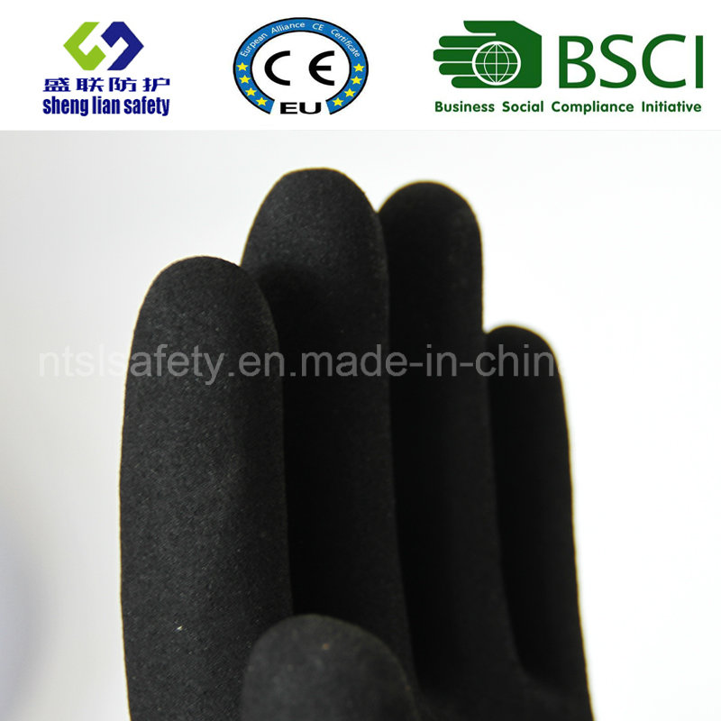 Nitrile Coating, Sandy Finish Safety Work Gloves (SL-NS112)