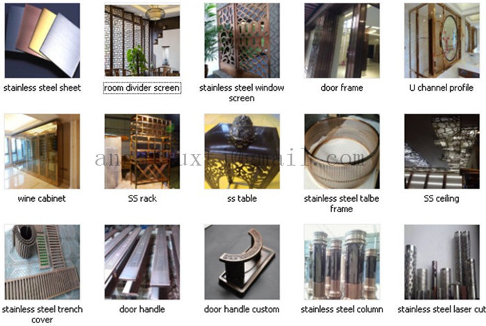 New Design 3D Stainless Steel Decorative Sheet Building Materials for Villa House Club