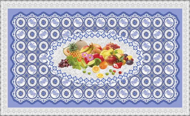 Hot Popular All in One Independent Design LFGB Transparent Printed Tablecloth 90*145cm (TZ-0030B)