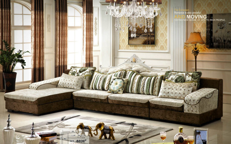New Classic Living Room Fabric Sofa Furniture (603A)