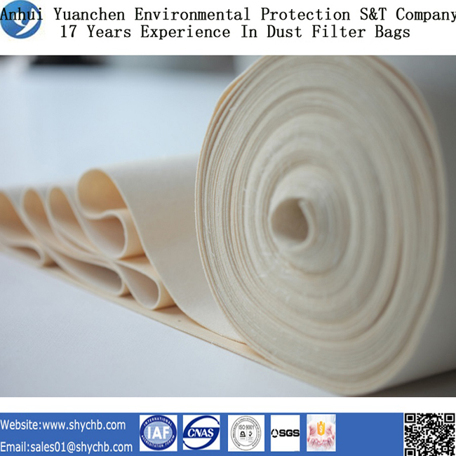 Nonwoven Needle Punched Filter Water and Oil Repellent PPS Composition Dust Filter Bag for Industry