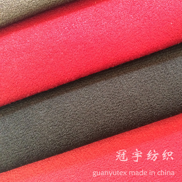 Faux Leather 100% Polyester Suede Fabric for Home Decoration