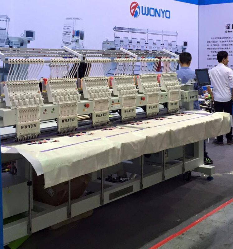 6 Head Computerized Embroidery Machine for T-Shirt/ Caps/ Flat Embroidery Industry