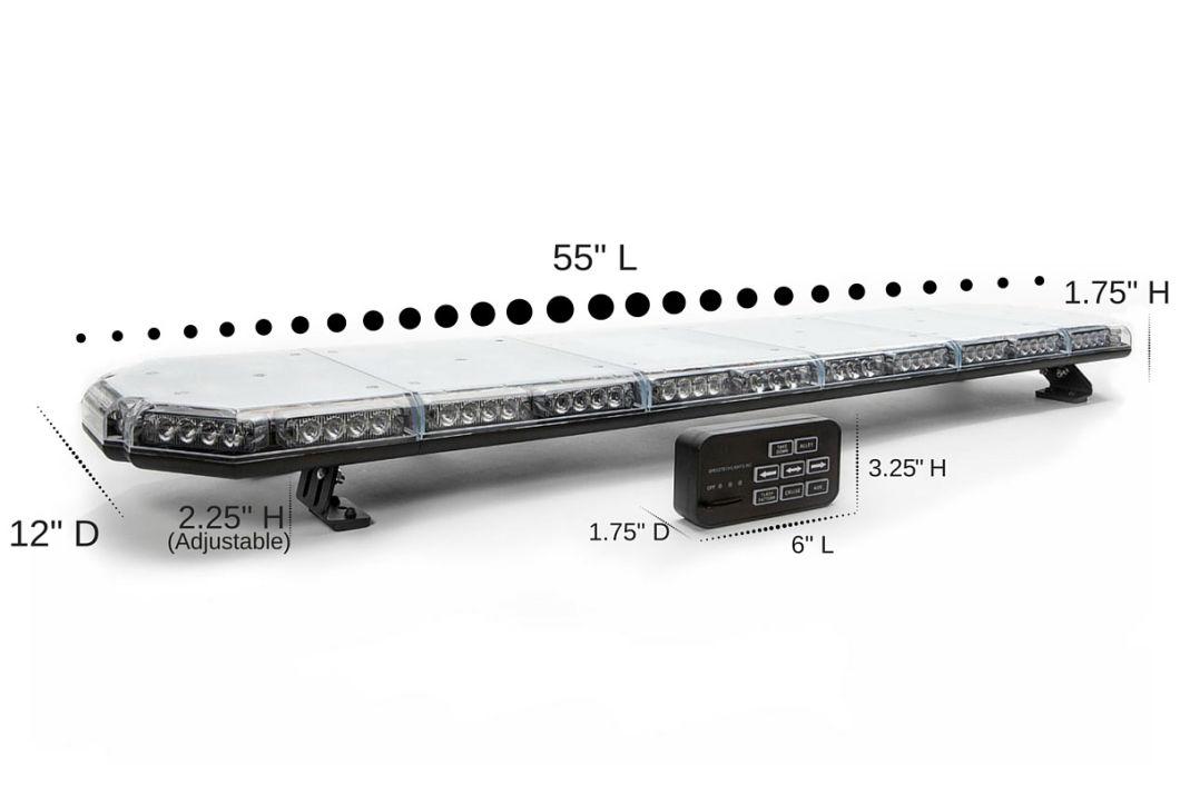 55 Inch Tir LED Warning Light Bar for Police Fire Construction EMS Vehicle