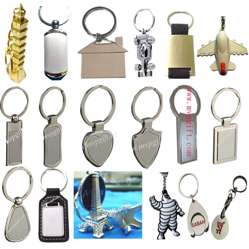 Fashion Aluminum Key Chain with Bottle Opener Function