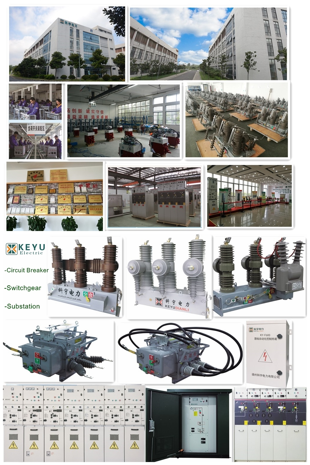 Distribution System Solid Insulated Electric Vacuum Switchgear