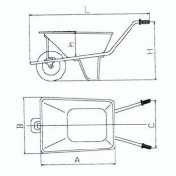 Popular Model in Africa Market Wheel Barrow Thickness 0.7-1.2mm Wb3800