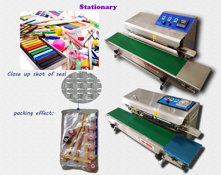 Continuous Automatic Adjustable Conveyor Seal Machine with Rise and Fall Heat Sealing Line for Stand Bag and Standing Pocket
