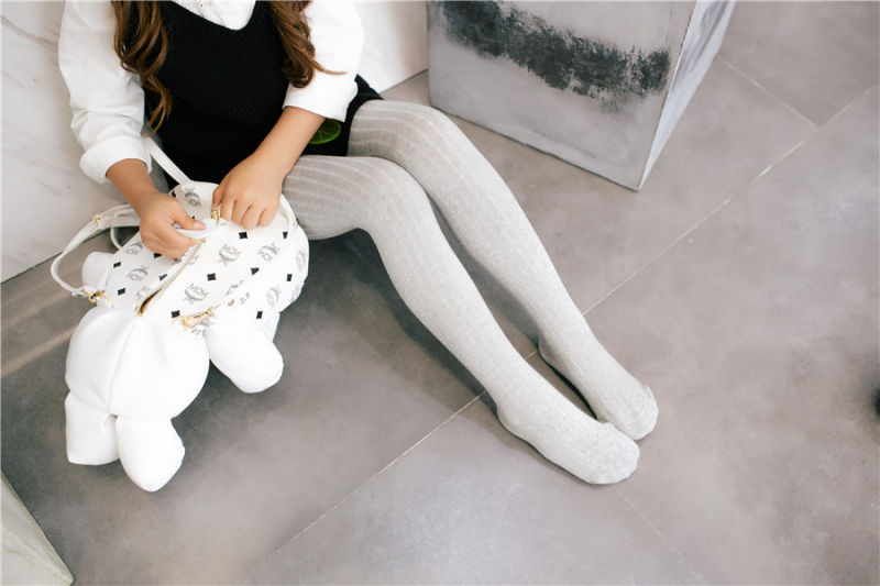 Winter Style Solid Kid Cotton Tights Basic Styles Wear Outside and Inhouse