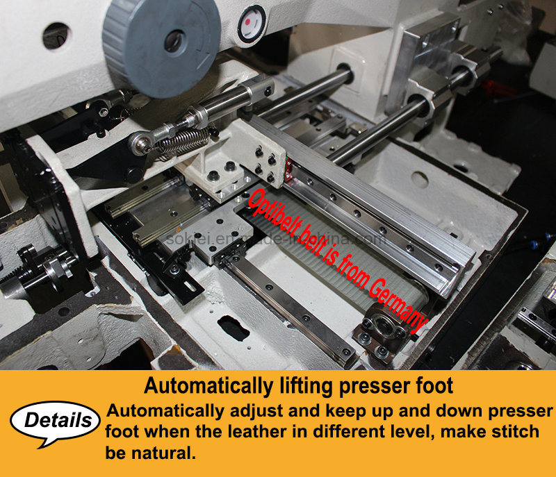 Automatic Industrial Lockstitch Moccasin Shoe Upper Backpack Handbag Leather Sewing Machine