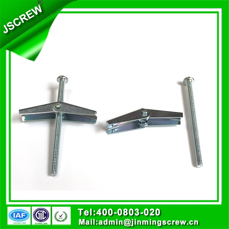 Zinc Plated M8 Steel Pan Head Toggle Bolt