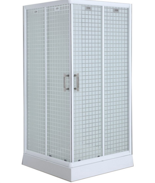 Square Tray Fabric Glass Shower Cubicle (ADL-8012E)
