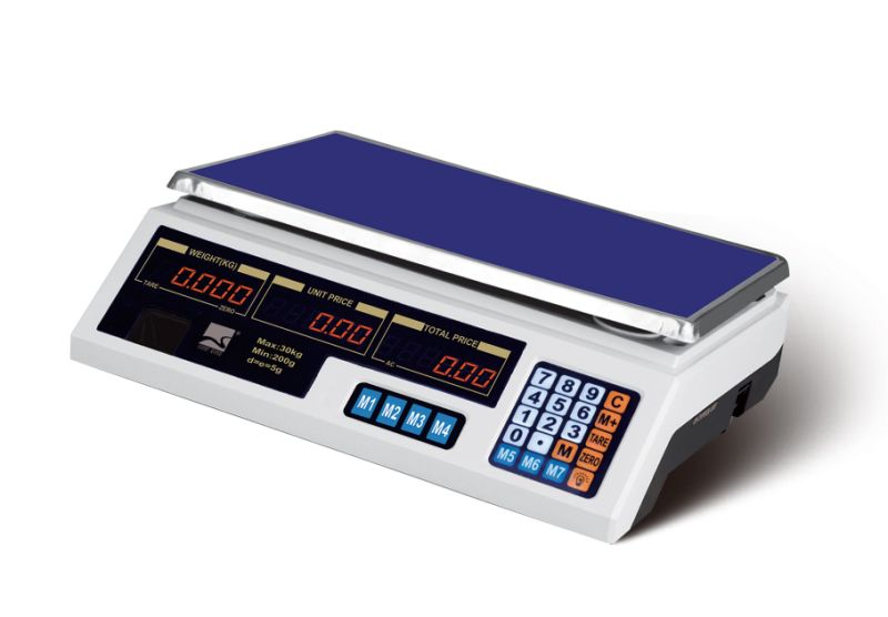 Electronic Balance Price Computing Scale with Stainless Steel Plate