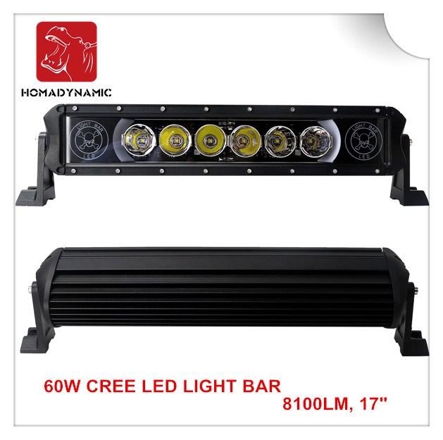Wholesae 60W 6000k Single Row Spot LED off Road LED Light Bar for SUV 4X4 Trucks